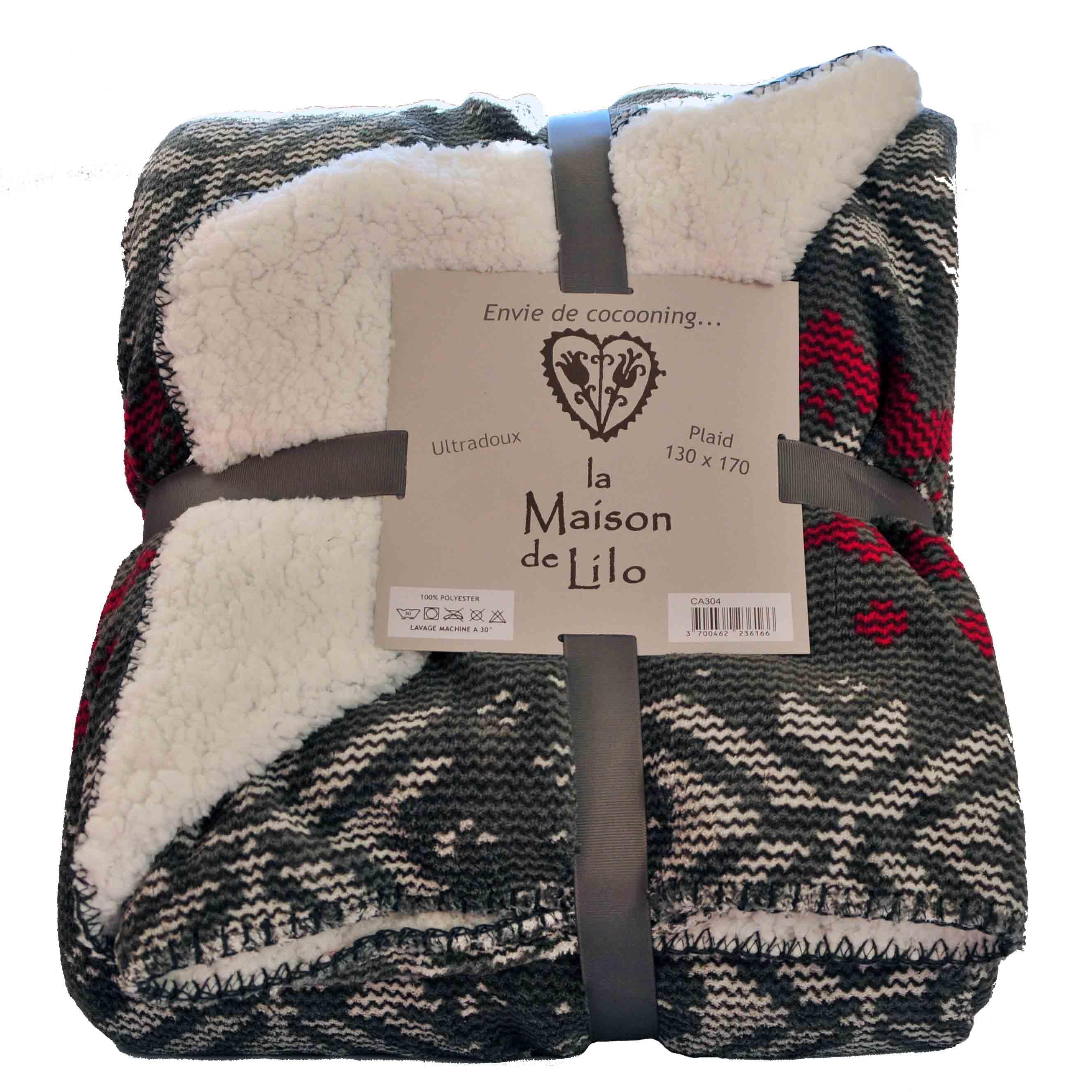 plaid fa on tricot alaska doubl sherpa la savoie en direct. Black Bedroom Furniture Sets. Home Design Ideas