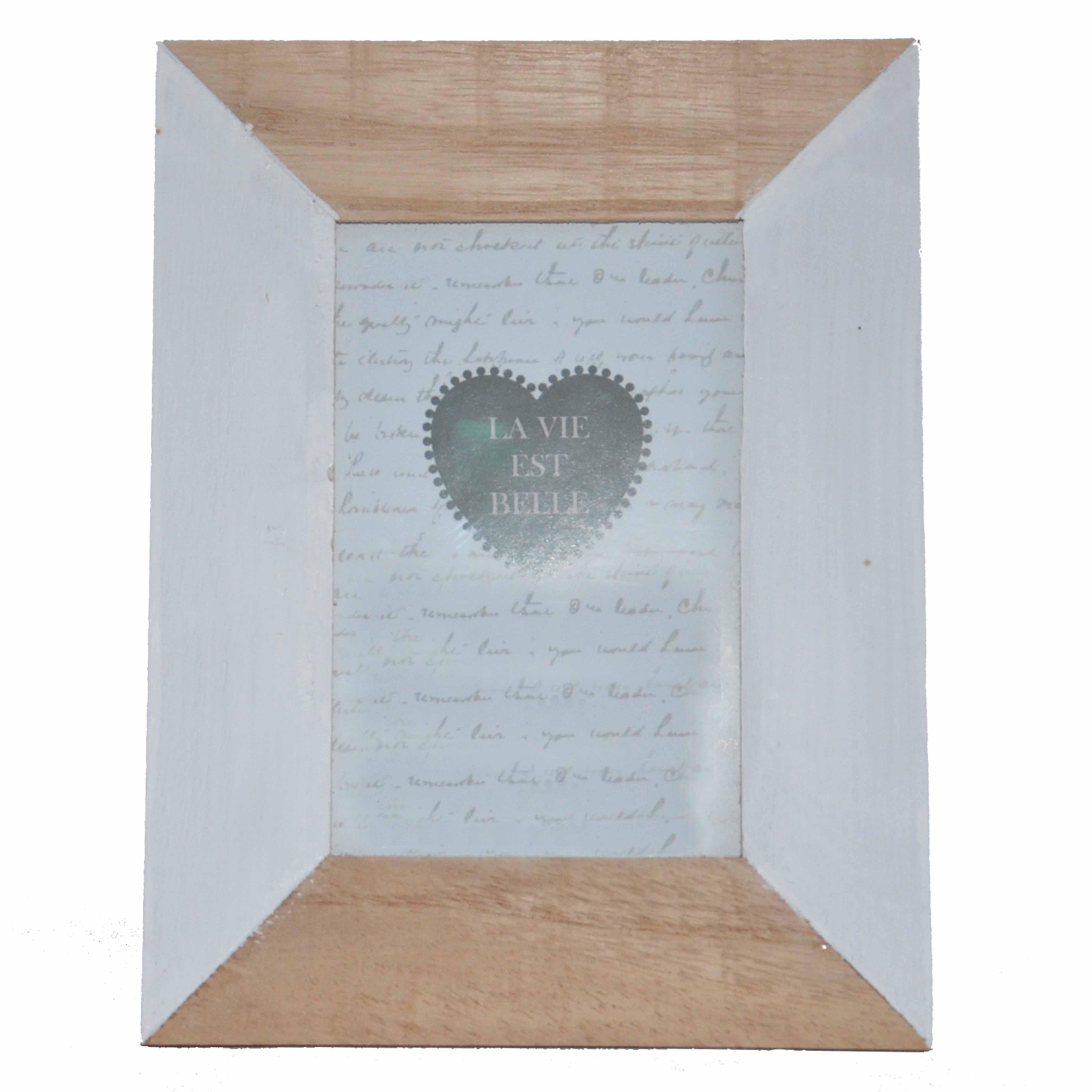 cadre photo 10x15 bois naturel blanc la savoie en direct. Black Bedroom Furniture Sets. Home Design Ideas