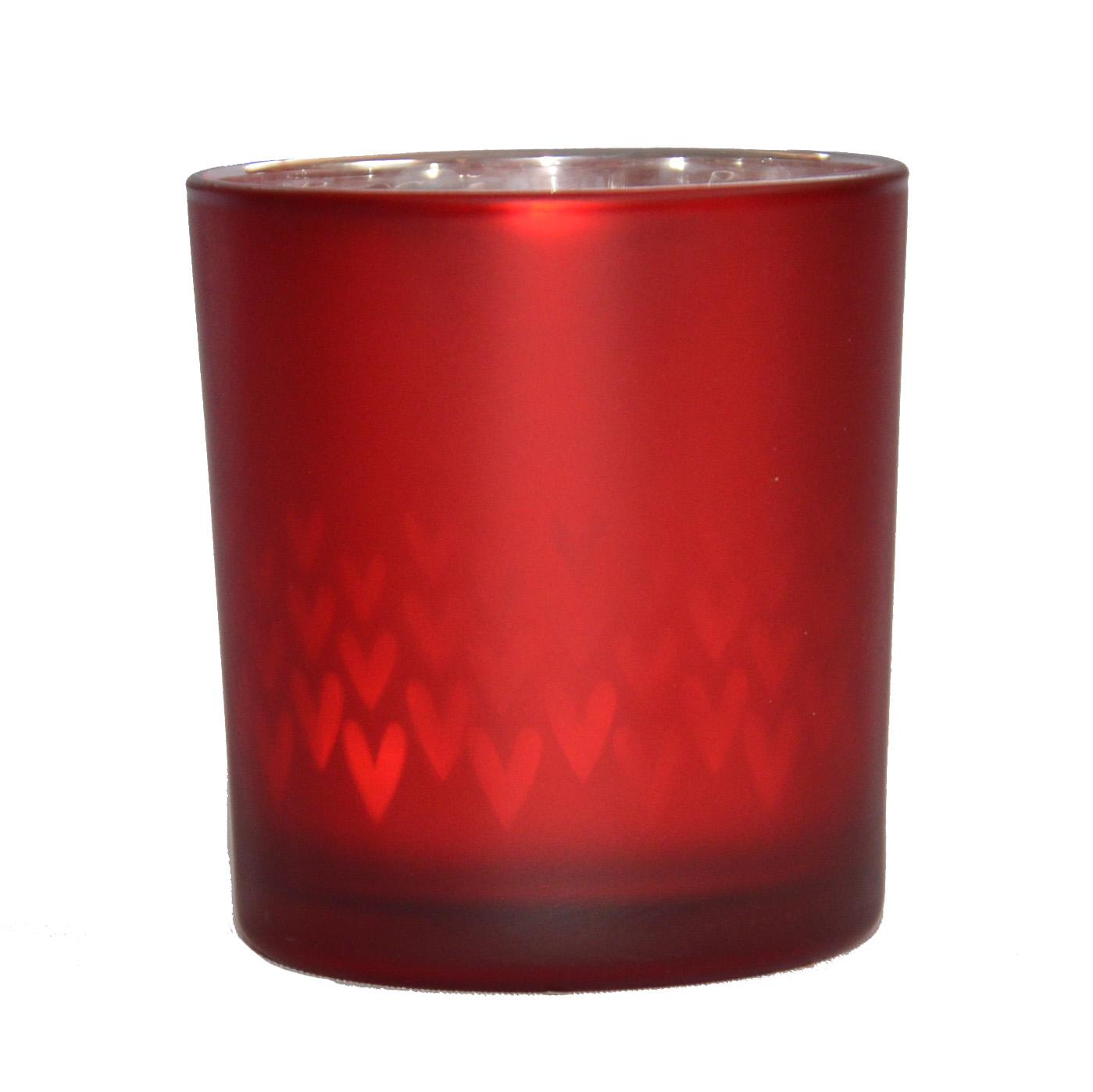 photophore rouge avec coeurs la savoie en direct. Black Bedroom Furniture Sets. Home Design Ideas