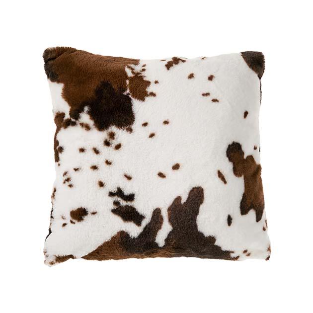 coussin fa on fourrure vache la savoie en direct. Black Bedroom Furniture Sets. Home Design Ideas